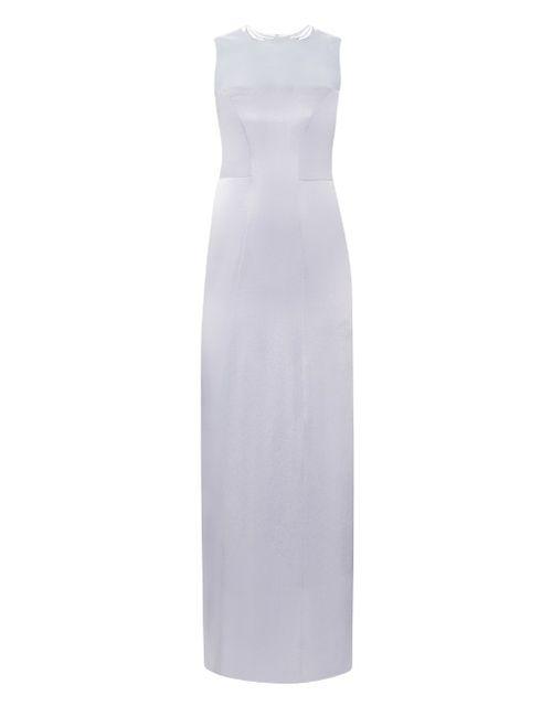 GALVAN | Женское Серебристый Embroidered Satin Gown