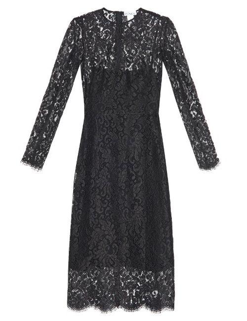 RAEY | Женское Черный Long-Sleeved Lace Dress