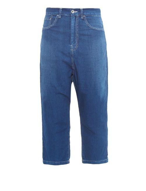 Y'S BY YOHJI YAMAMOTO   Boyfriend-Fit Cropped Jeans
