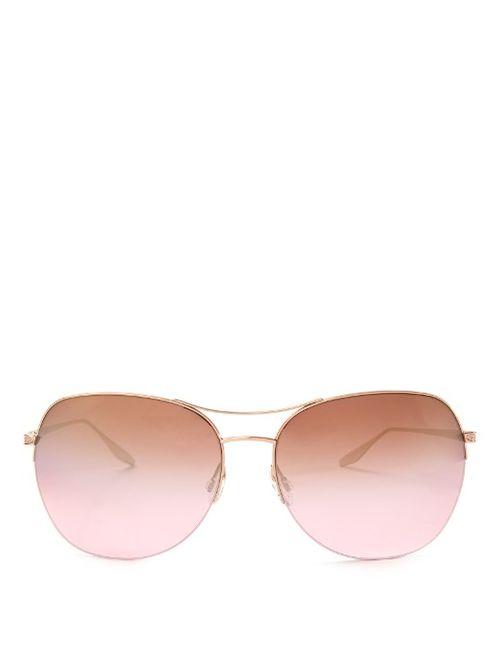 BARTON PERREIRA   Женское Золотой Quimby Aviator Sunglasses