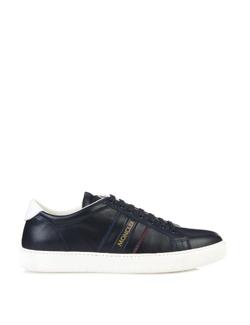 Moncler | Мужское Чёрный Gorette Low-Top Leather Trainers