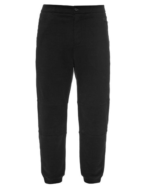 Alexander McQueen | Мужское Чёрный Straight-Leg Cotton-Jersey Track Pants