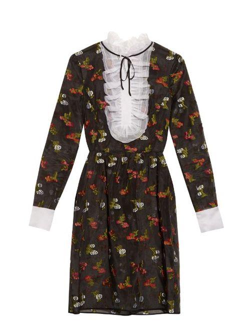 Erdem | Женское Черный Katy Fil-Coupé Silk Dress