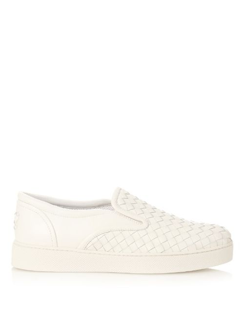 Bottega Veneta | Женское Белый Intrecciato Leather Slip-On Trainers