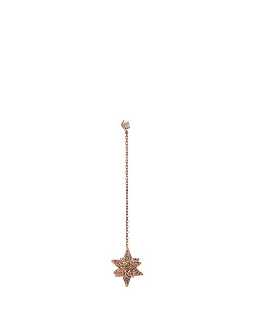 Noor Fares | Женское Золотой Merkaba Diamond Rose-Gold Earring