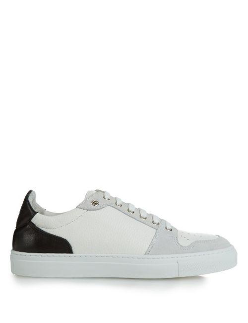 Ami | Мужское Чёрный Contrast Panels Low-Top Leather Trainers