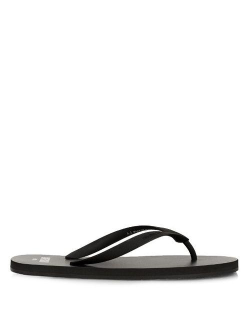 Givenchy | Чёрный Logo-Embossed Rubber Flip-Flops