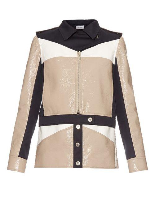 Courreges | Бежевый Contrast-Panel Zip-Through Jacket