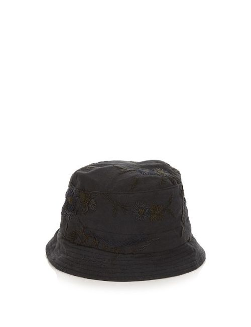 BY WALID | Kal Embroidered Linen Hat