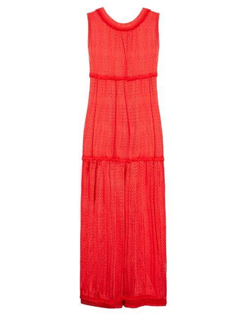 Missoni Mare | Chevron-Knit Tassel-Trimmed Maxi Dress