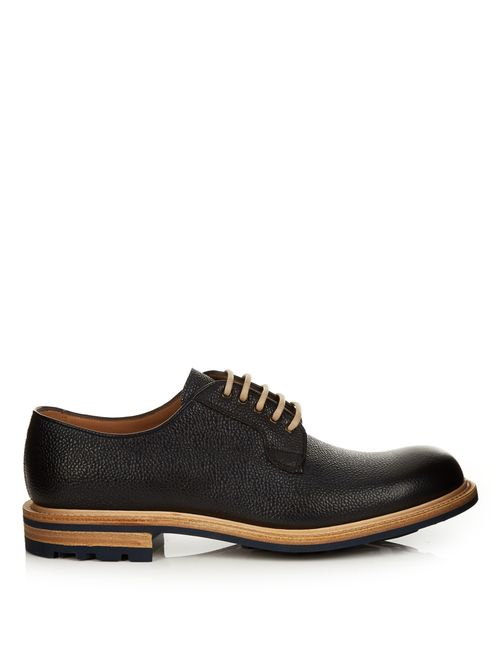 CHEANEY | Teign Grained-Leather Derby Shoes