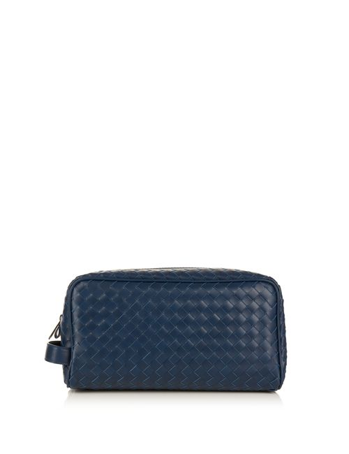 Bottega Veneta | Синий Intrecciato Leather Washbag