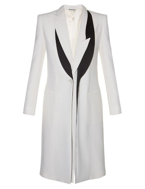 Alexander McQueen | Женское Asymmetric-Lapel Leaf-Crepe Coat