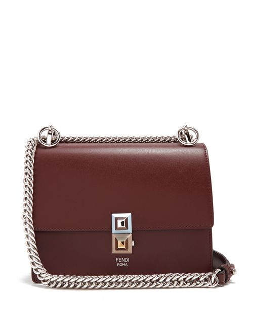 Fendi | Женское Burgundy Multi Kan I Small Cross-Body Bag