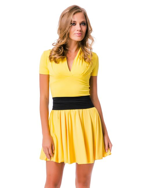 Mondigo | Женская Жёлтая Юбка 5341