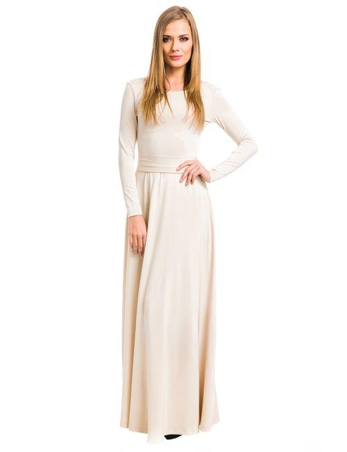 Mondigo   Женское Бежевое Платье 7003