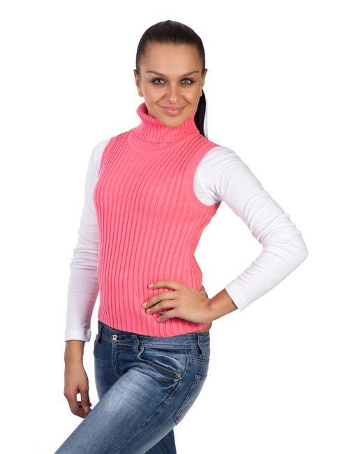 Mondigo | Женский Розовый Жилет 9008-54