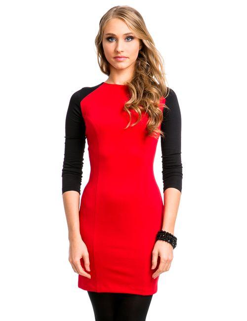 Mondigo | Женское Брусничное Платье 5050