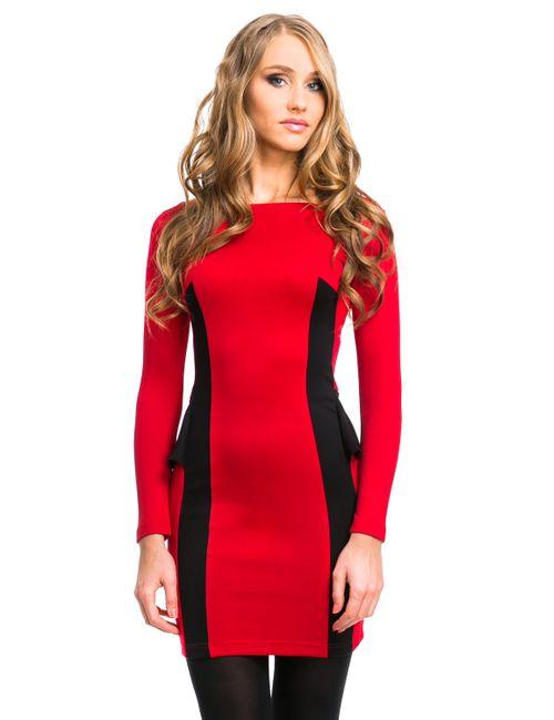 Mondigo   Женское Брусничное Платье 5052