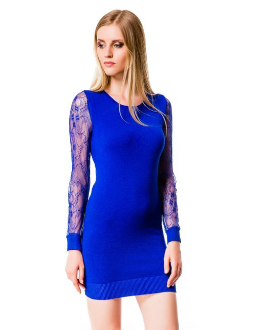 Mondigo | Женское Синее Платье 10030
