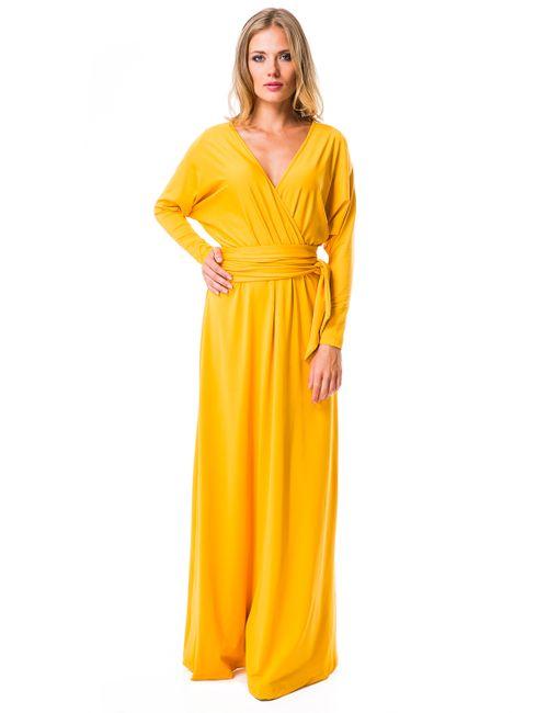 Mondigo | Женское Ярко-Горчичное Платье 7029