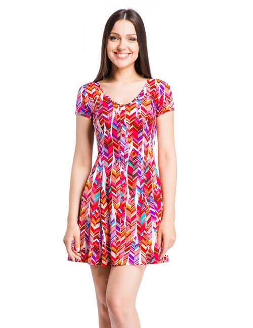 Mondigo | Женское Розовое Платье 7055-2