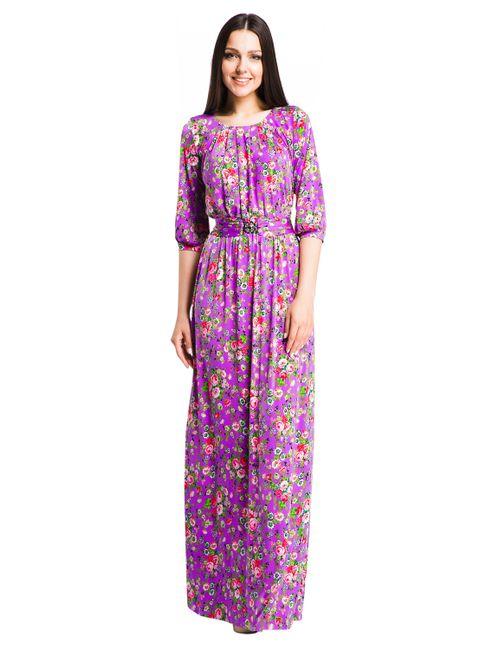 Mondigo | Женское Фиолетовое Платье 7082-2