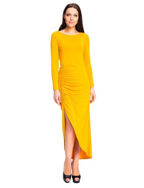 Mondigo | Женское Ярко-Горчичное Платье 7077