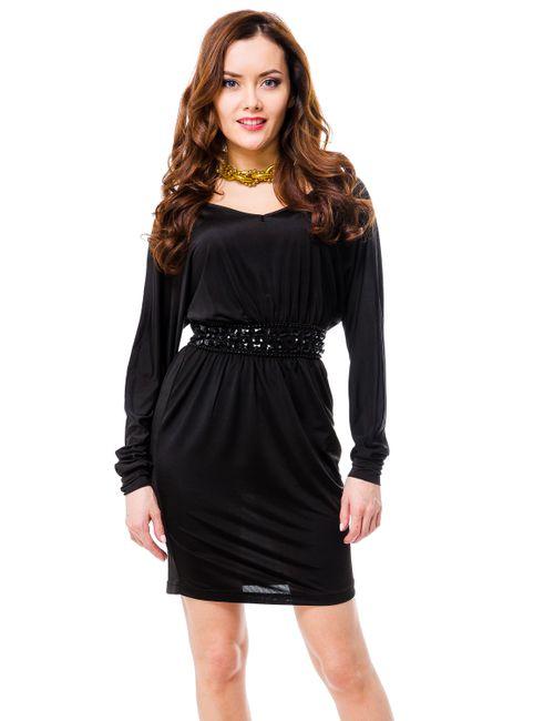 Mondigo | Женское Чёрное Платье 8608