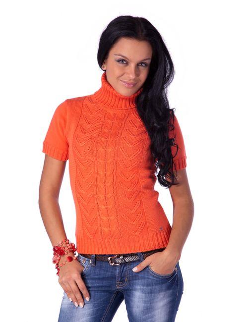 Mondigo | Женский Оранжевый Вязаный Свитер 9004