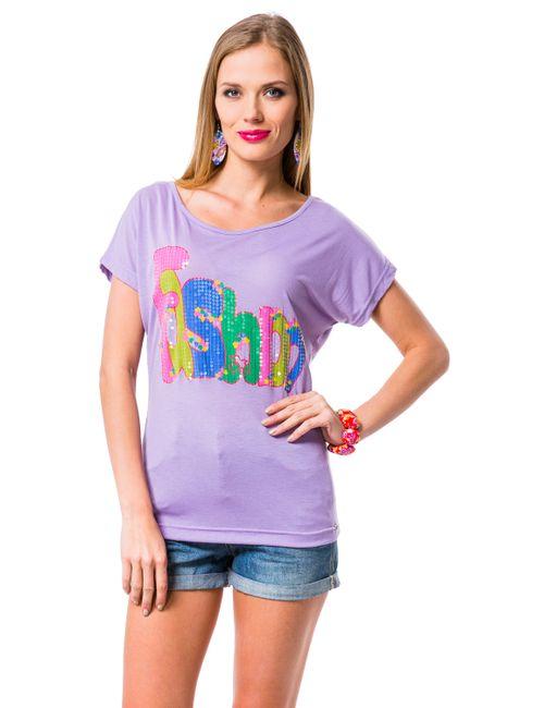 Mondigo   Женская Фиолетовая Футболка 8624