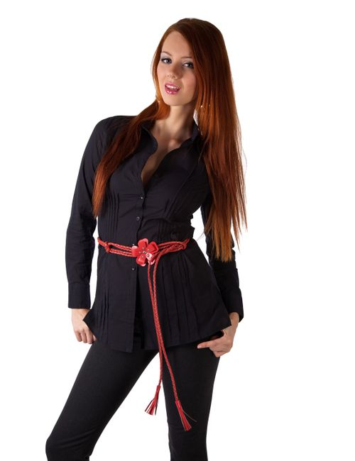 Mondigo | Женская Чёрная Рубашка 9609
