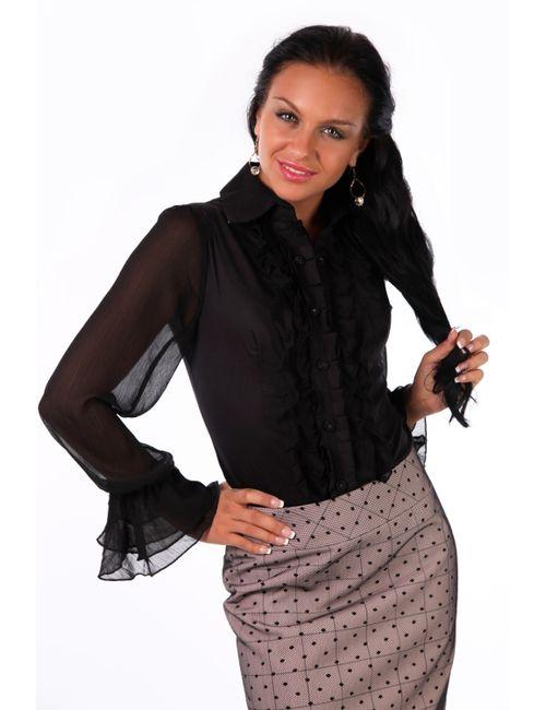 Mondigo | Женская Чёрная Блузка 9632