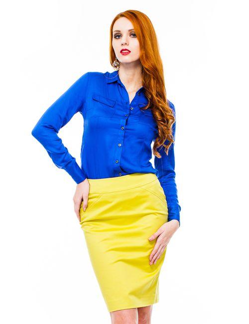 Mondigo | Женская Синяя Блузка 9961