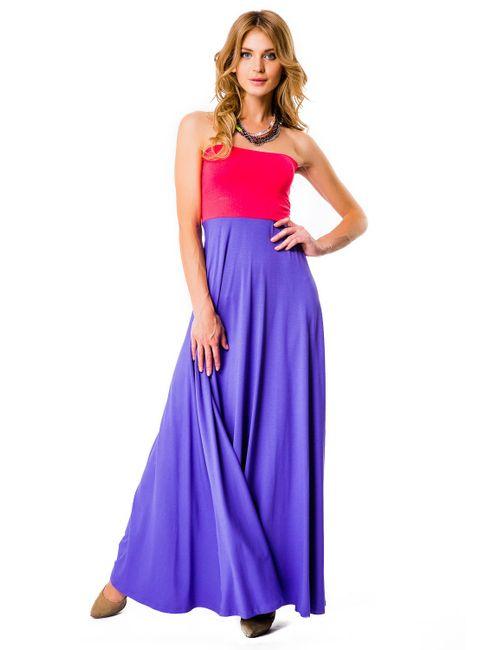 Mondigo | Женская Фиолетовая Юбка-Сарафан 7038