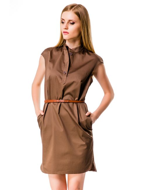 Mondigo | Женское Какао Платье 5082