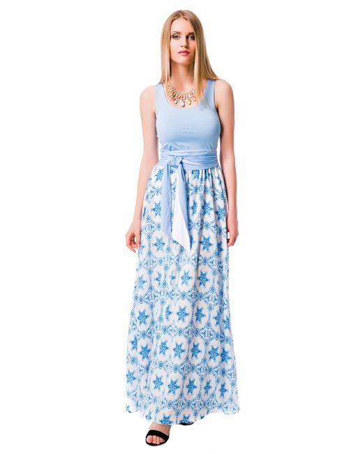 Mondigo | Женское Голубое Платье 6123