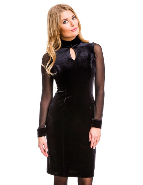 Mondigo | Женское Чёрное Платье 7019
