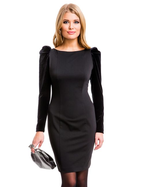 Mondigo | Женское Чёрное Платье 5071