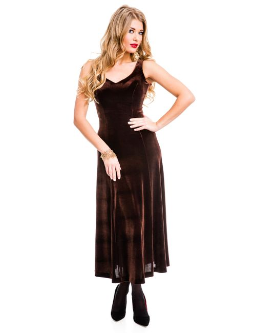 Mondigo | Женское Коричневое Платье 7017