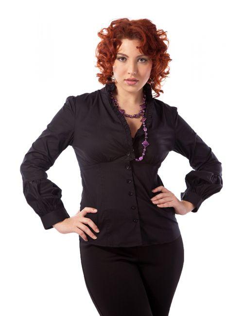 Mondigo | Женская Чёрная Рубашка Xl 9642