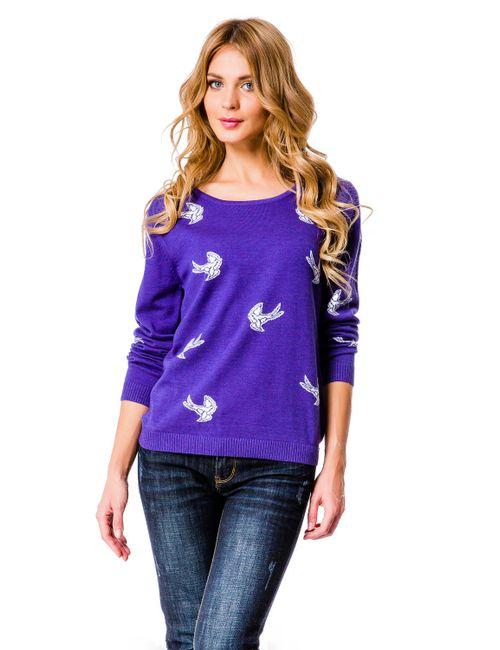 Mondigo | Женский Фиолетовый Джемпер 10020