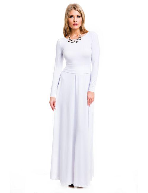 Mondigo | Женское Белое Платье 7003