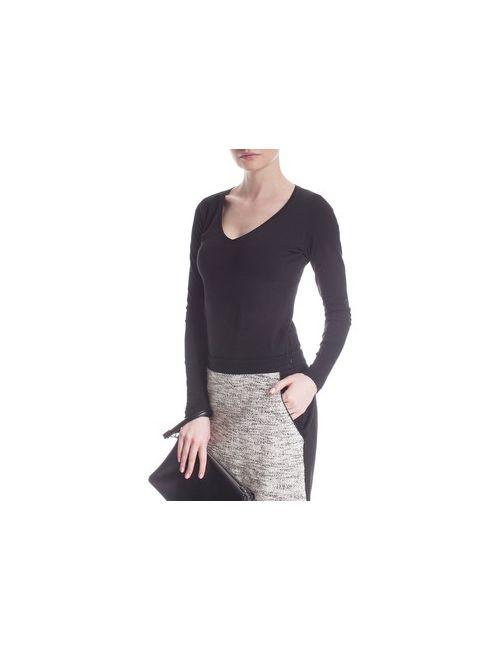MOTIVI | Черный Блуза Basic С V-Образным Вырезом
