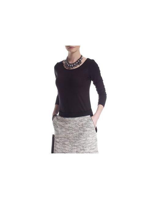 MOTIVI | Чёрная Блуза Basic С Длинными Рукавами