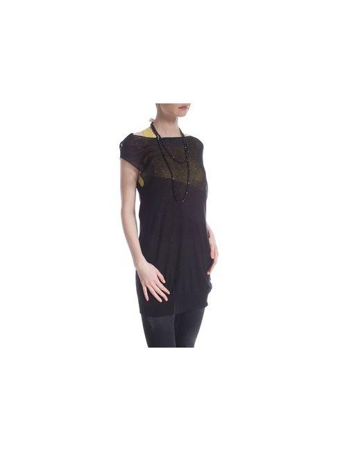 MOTIVI | Женская Чёрная Асимметричная Блуза С Сеткой