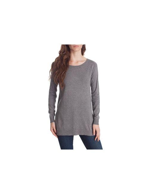 MOTIVI | Женский Чёрный Пуловер С Боковыми Разрезами