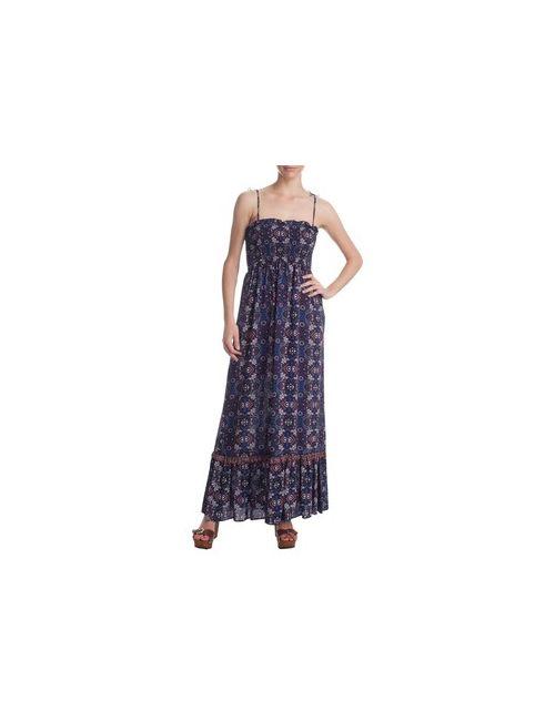MOTIVI | Женское Синее Длинное Платье С Набивным Рисунком В Стиле