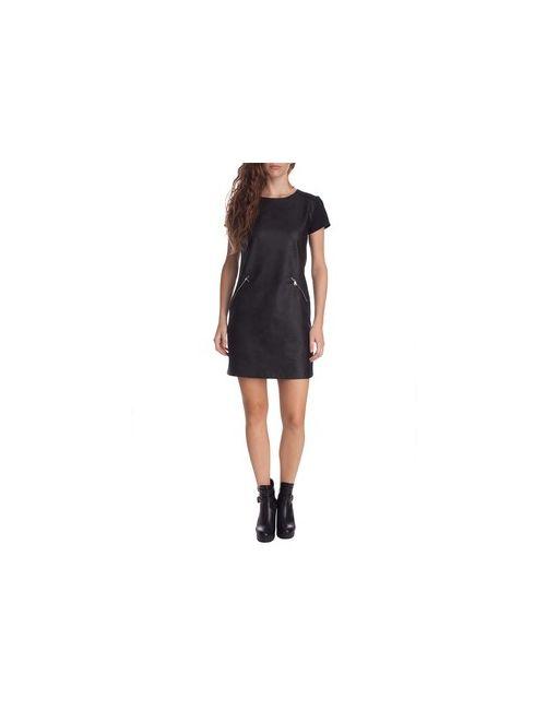 MOTIVI | Женское Черный Платье Из Крепа И Искусственной Кожи