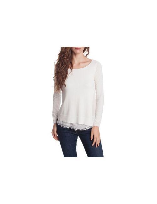 MOTIVI | Женский Коричневый Пуловер С Плиссированными Вставками